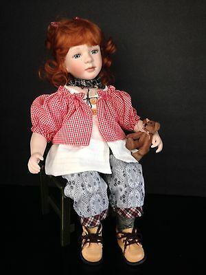 """Rare Seymour Mann """"Kaitlyn"""" Collectible Porcelain Doll 17"""" Hard To Find"""