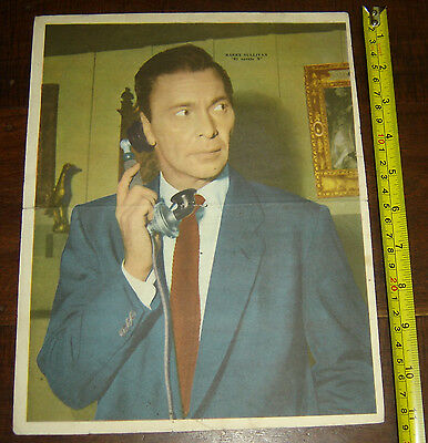 BARRY SULLIVAN Man Called X  ARGENTINA Canal TV variant Poster vintage 1960