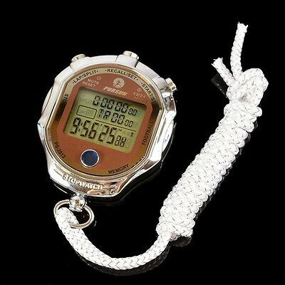 Digital Stopwatch 1/1000 Second Sports Chronograph Counter Timer Watch