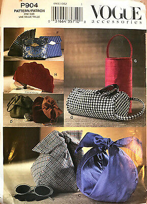 7531 VOGUE Classic Evening Bags Vintage Quilted 8 Styles Pattern UNCUT P904