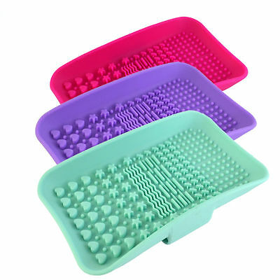 Silicone Makeup Brush Cleaner Pad Washing Cleaning Mat Board Cosmetic Hand Tool
