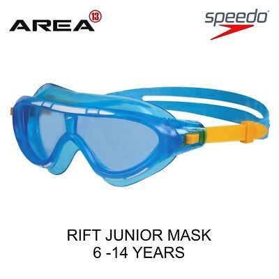 Speedo Rift Junior Swim Mask Goggles Blue & Yellow, Children's Swimming Goggles