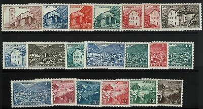 French Andorra SC# 85-104, Mint Hinged, some Hinge Remnant, see note- Lot 032917
