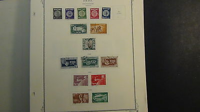 Israel stamp collection on Scott Specialty  pages to '66 + glassines,etc