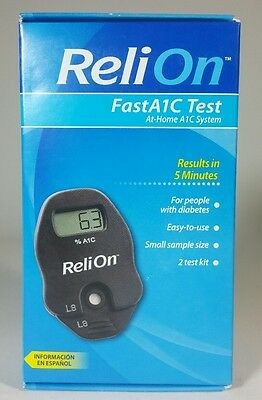 ReliOn FastA1C Test At-Home A1C System for diabetes. Brand New