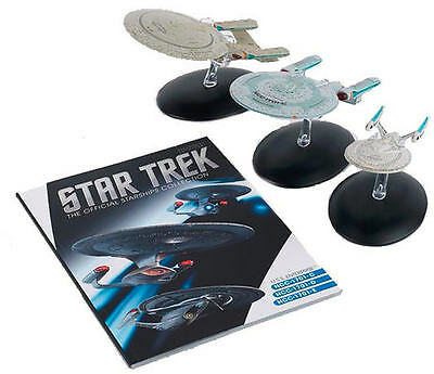 STAR TREK Official Enterprise NCC-1701-C, NCC-1701-D & NCC-1701-E Set Eaglemoss