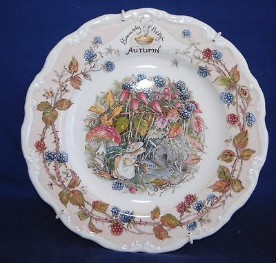 "Royal Doulton BRAMBLY HEDGE ""AUTUMN"" Plate - Mounted - Excellent 21cm"