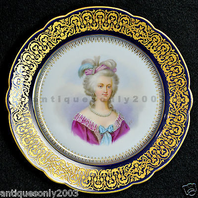 Charles Pillivuyt Co Cie Paris French Hand Painted Porcelain Plate SIGNED L.Y.