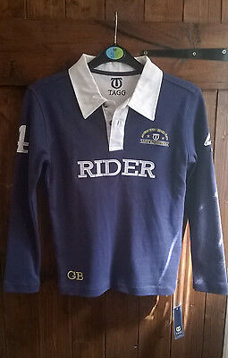 New Childrens Tagg Horse Riding Polo Shirt Size M