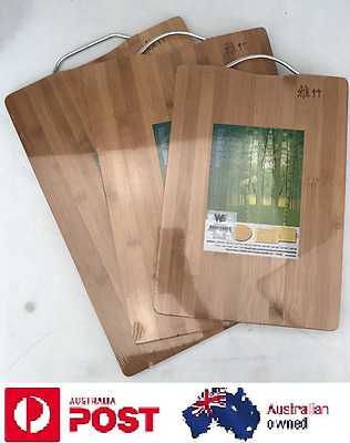 Premium Professional Bamboo Wooden Heavy Duty Kitchen Chopping Cutting Board