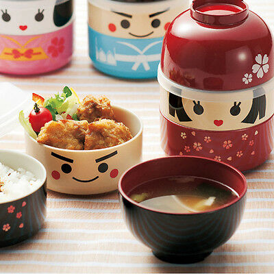 Sound Japanese Style Fuwa-shaped Lunch Bento Box Food Container Storage Portable