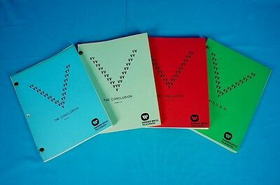 V VISITORS 1983 FINAL BATTLE SCRIPTS rare SET (4) production used prop COA