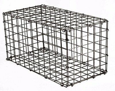 Galvanised Steel Mesh Gabion Stone Cage Flat Pack Construction 300mm x 600mm