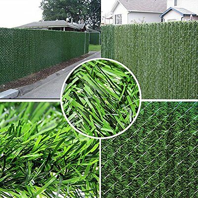 Faux Artificial Hedge Slats Panel Plastic Fence Privacy Screening Free Shipping