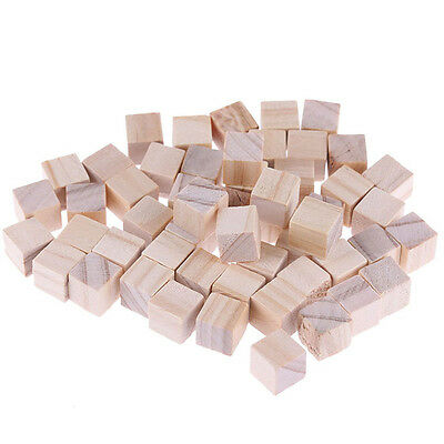 Decor Handmade Square Wooden Bead Handcrafts DIY Crafts Cube Montessori Blocks