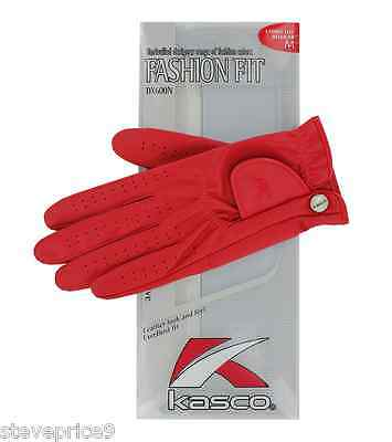 Kasco Ladies Ruby Red Fashion Fit Golf Glove. Small.