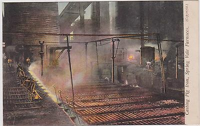 Staffordshire Bilston Spring Vale Furnaces Col Ppc Unposted Price Card