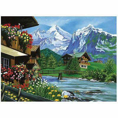 Reeves Senior Paint By Numbers Mountain Chalets