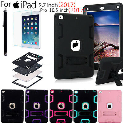 "New iPad 2017 9.7""/ Pro 10.5"" Case Cover, Heavy Duty Rugged Kickstand Shockproof"