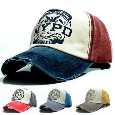 1pc Fashion UNISEX Baseball Cap Fit Fitted Hat NYPD Cap Cotton Adjustable New