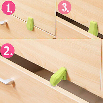 4PCS Door Cabinet Cupboard Lock Anti Clip Child Kid Baby Safety Protection