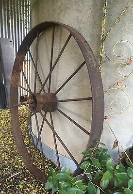 Antique Rustic Industrial Metal Wheel. Wagon Wheel. 2 Avail Sell Separately D