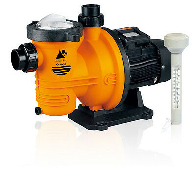 HydroPro Orange Swimming Pool Pump 1.5kW (2HP) 230V + Floating Thermometer