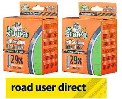 """2 x 29"""" Dr Sludge Bike Inner Tubes 29 x 2.10 - 2.35 SV Free Tracked Delivery"""