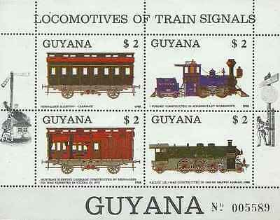 Timbres Trains Guyana 2069/72 ** lot 20893