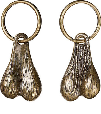 Supreme 16ss Brass Balls Keychain Pure copper Cattle egg Key buckle Pendant