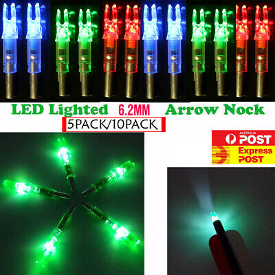 6.2mm Green Lighted Nocks LED Arrow Nock For Hunting Shooting Compound Bow