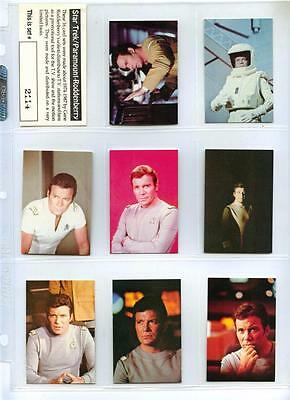 Star Trek #2114 - Complete 16 Card Set - Roddenberry Paramount Captain Kirk Rare