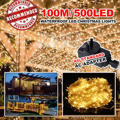 100Meter 500 LED String Fairy Lights Indoor/Outdoor Xmas Christmas Party SAA