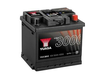 Lotus Elise & Exige YBX3000 SMF Battery YBX3012 12V 50Ah 420A Yuasa SMF Battery