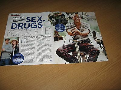 CHARLIE HUNNAM -  3 page magazine clipping