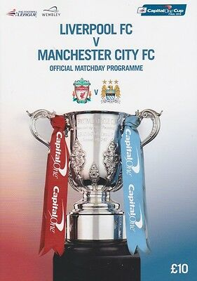 Liverpool Man City Capital One  League Cup Final 2016 Mint Programme Manchester