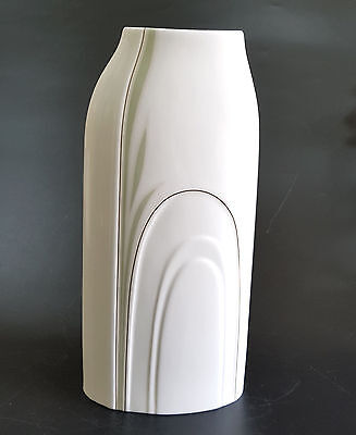 Royal Doulton Impressions Tall Cypress Porcelain Vase by Gerald Gulotta - 1982