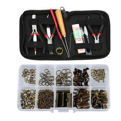 12pcs JEWELLERY MAKING TOOL KIT Wire Wrapping Bead Pliers Findings Sets