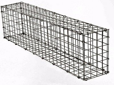 Gabion Stone Cage Galvanised Steel Mesh Flat Pack Construction 200mm x 1200mm