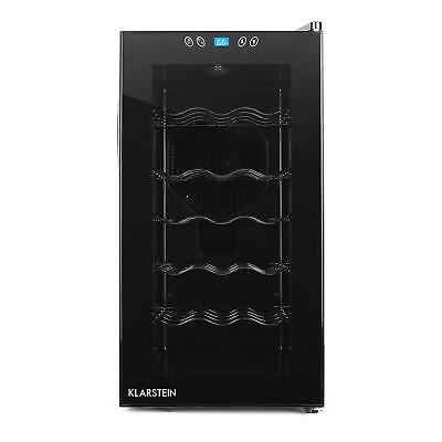 Klarstein 18 Bottle Wine Fridge 52L Storage Glass Door 5 Shelves Led Touchpad