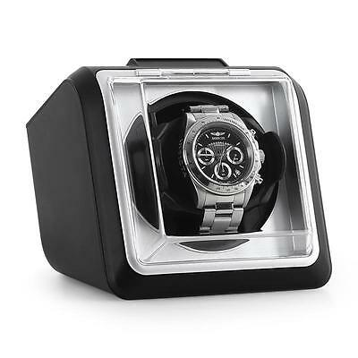 Automatic Rotating Wrist Watch Winder Black Collector Display Case Box Holder