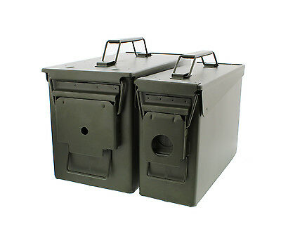 (Closeout) .30 and .50 Cal Metal Ammo Can Set with Latched Lids