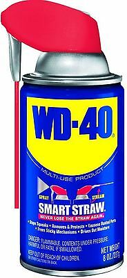 WD-40 Multi-Purpose Lubricant with Smart Straw Spray 8 oz (Pack of 6)