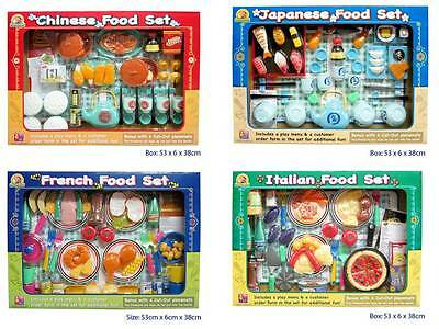 Lot 4 X Assorted Multicultural Pretend Play Food Restaurant Meal Educational Toy