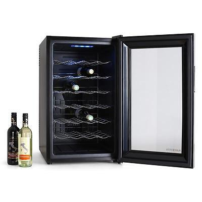 28 Bottles Wine Fridge Refrigerator Glass Door 6 Floor Led Cooling Machine Black