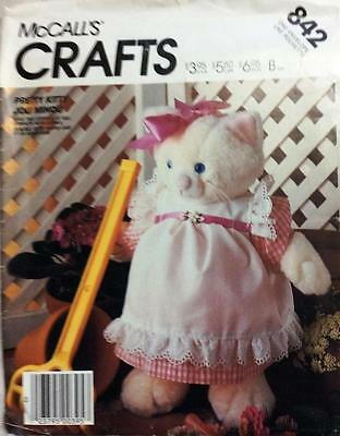 ~RARE McCall's CRAFT Sewing Pattern 842 (2863) Pretty Kitty & Clothes UNCUT~