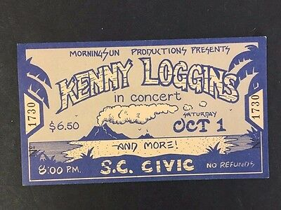 Morning Sun Productions Presents Kenny Loggins Concert Music Ticket Vintage S.C