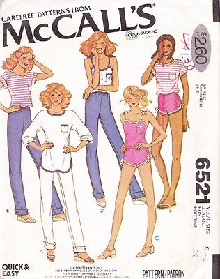 ~UNCUT Vintage Carefree Shorts, Tops & Pants McCall's 6521 Sewing Pattern 5-6~