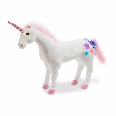 Melissa and Doug Big Unicorn PLUSH TOY 32 Inches 2ft Tall Kids Staffed Soft -cb