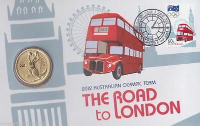 2012 AUSTRALIAN OLYMPIC TEAM - The Road To London Olympics PNC $1 GOLDEN COIN